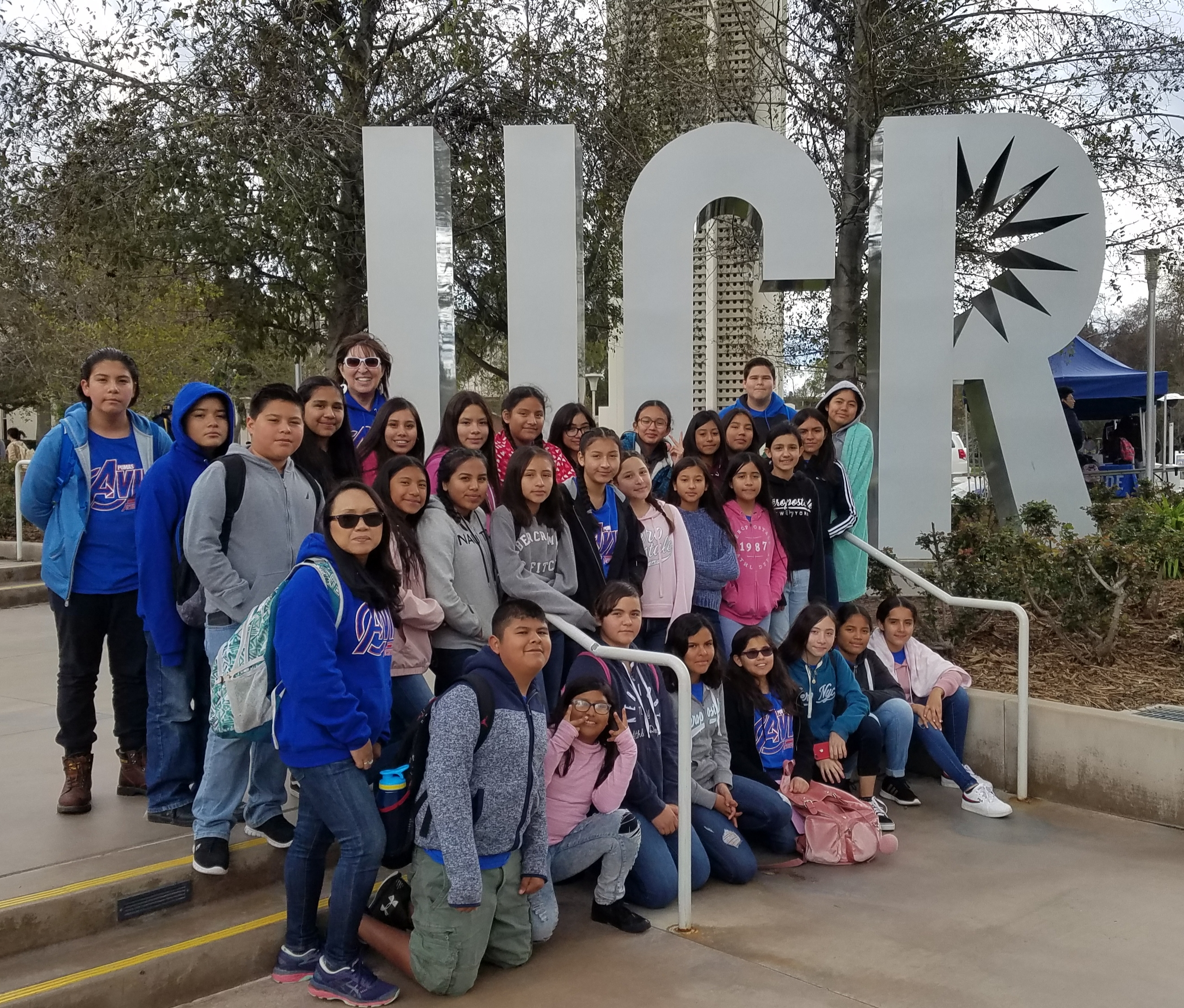 AVID students go on a field trip to UCR to explore the campus.